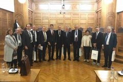4.12- Στη συνεδρίαση της Επιτροπής  Ελληνισμού της Διαποράς μαζί με τον πρόεδρο της Ιατρικής σχολής του ΑΠΘ Αστέριο Καραγιάννη,  τον Αντιπρόεδρο Κυριάκο Αναστασιάδη  και τέσσερις Έλληνες εξαίρετους γιατρούς που διαπρέπουν στο εξωτερικό.