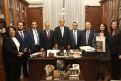 20.11.2019-Η Διακομματική Αντιπροσωπεία της Ειδικής Μόνιμης Επιτροπής Ελληνισμού της Διασποράς, με επικεφαλής τον Πρόεδρο της Επιτροπής Σάββα Αναστασιάδη, επισκέφθηκε το Ζωγράφειο Λύκειο